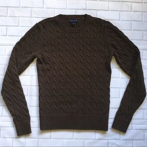 Tommy Hilfiger Sweater Women's Sz Med Brown Cable